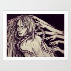 Choked Art Print