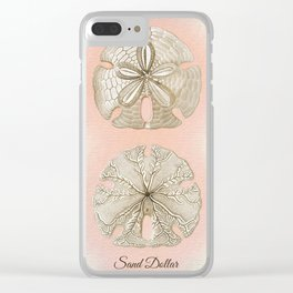 SAND DOLLARS Clear iPhone Case