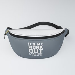 It's My Workout Funny Gym Quote Fanny Pack