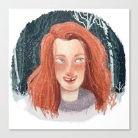 ygritte Canvas Prints featuring In Winter by laurarts