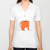 budi V-neck T-shirts featuring Cannonball by Picomodi