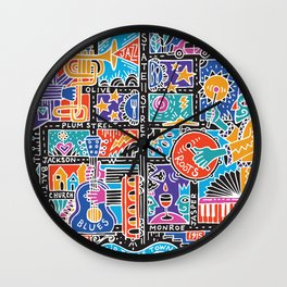Media PA ARTmap- bright sound Wall Clock