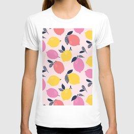 Kitschy Colorful Citrus Pattern T-shirt