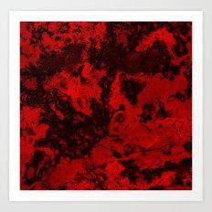 Galaxy in Red Art Print