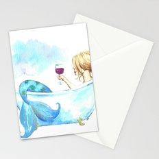 Bathtub Mermaid Stationery Cards