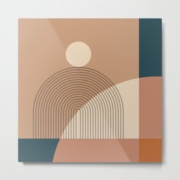 Abstraction_SUN_LINE_SHAPE_POP_ART_Minimalism_1201A Metal Print
