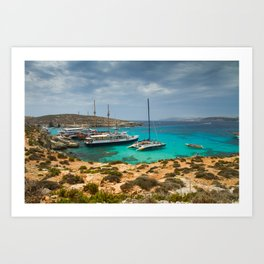 The Blue Lagoon, Comino, Malta Art Print