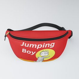 Jumping Boy with a Ball - Red Fanny Pack