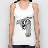 gun Tank Tops featuring gun by VoicesRantOn