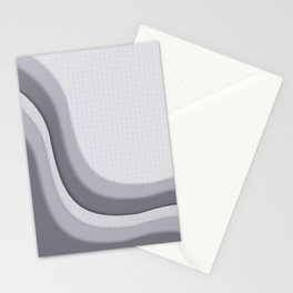 Pantone Lilac Gray Soothing Waves with Canvas Texture Stationery Cards