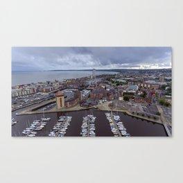 Swansea Bay and River Tawe Marina South Wales Canvas Print