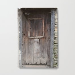 a door and many stories Metal Print