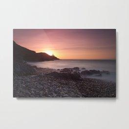 Dawn at Bracelet Bay Metal Print