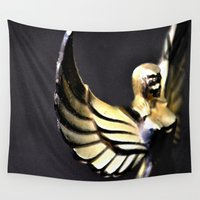 angel wings Wall Tapestries featuring Angel Wings Series by Shaunia McKenzie