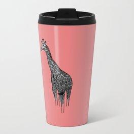 Newspaper Giraffe Travel Mug