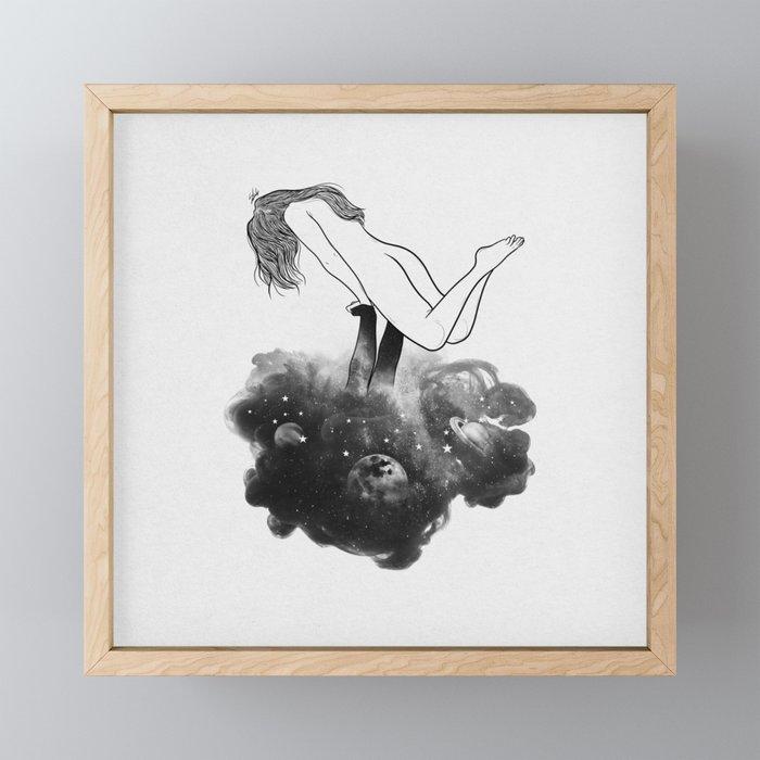 Hands from heaven. Framed Mini Art Print
