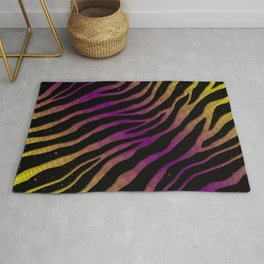 Ripped SpaceTime Stripes - Yellow/Purple Rug