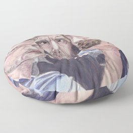 Team Free Will 2.: Misha Collins; Jared Padalecki and Jensen Ackles, watercolor painting Floor Pillow