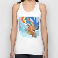 charizard Tank Tops featuring Charizard by Pablo Rey