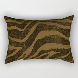 ANIMAL PRINT ZEBRA BROWN CHOCOLATE PATTERN Rectangular Pillow