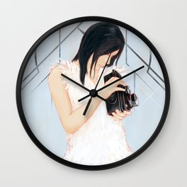 Rollei girl Wall Clock