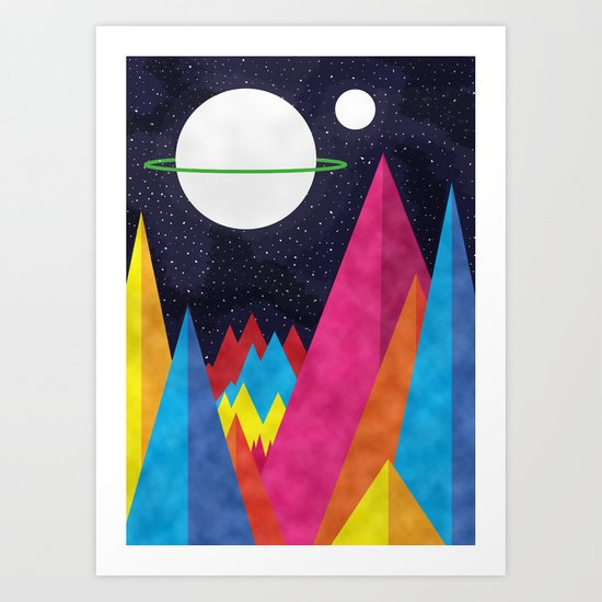 Space Night Art Print
