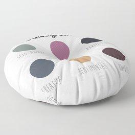 Enneagram 4 Floor Pillow