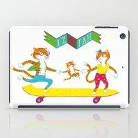 skate iPad Cases featuring Skate Izaiah Skate by Matthias Leutwyler