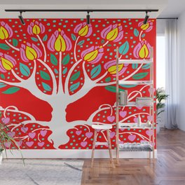 Love Grows Forever - Tomato Red Wall Mural