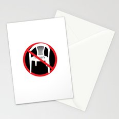 F*ck tha extruded chair! Stationery Cards