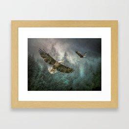 Valley of the eagles Framed Art Print