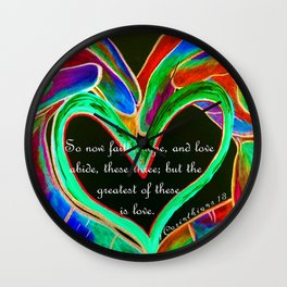 The Greatest of These is Love Wall Clock