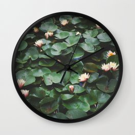 Echo Park Waterlillies Wall Clock