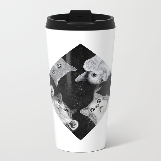 When you are kitten in the box Metal Travel Mug