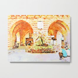 Teramo: arch and arcade Metal Print