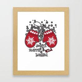 joyful merry and blessed Framed Art Print
