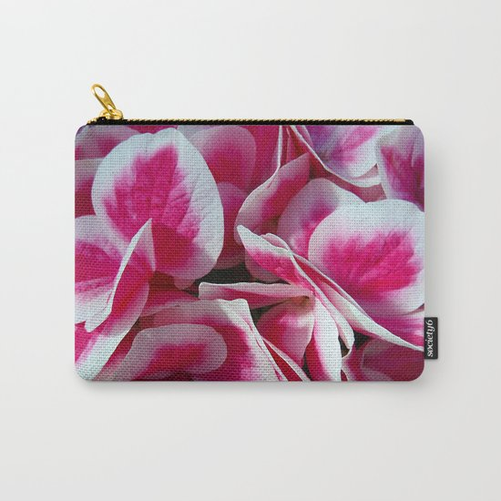 Pink + white  hydrangea in LOVE  - Flower Floral Carry-All Pouch