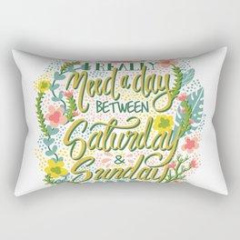 Between Saturday & Sunday Rectangular Pillow