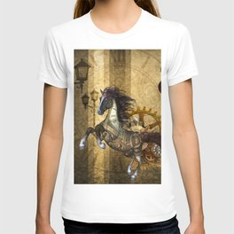 Awesome steampunk horse T-shirt