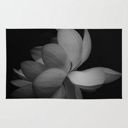 Black & White Lotus Rug
