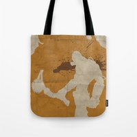 borderlands Tote Bags featuring Borderlands 2 - Salt the Wound by Art of Peach
