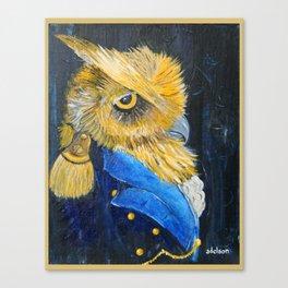 Owlexander Hamilton Canvas Print