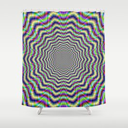 Psychedelic Web Star Shower Curtain