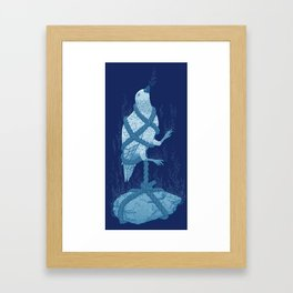 In love with a sinking stone Framed Art Print