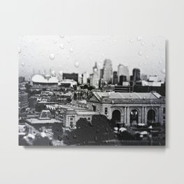 Union Station, Kansas City, Through the Rain Metal Print