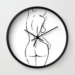 FEMALE FIGURE Wall Clock