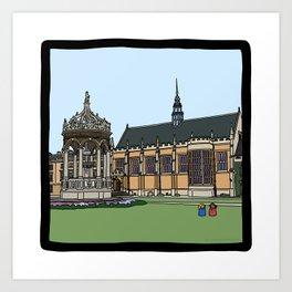 Cambridge struggles: Trinity College Art Print