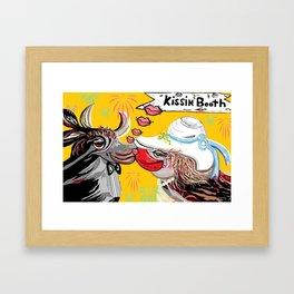 Cow Kiss Framed Art Print