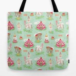 Vintage Circus Tote Bag
