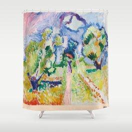 Matisse Landscape exhibition poster Shower Curtain